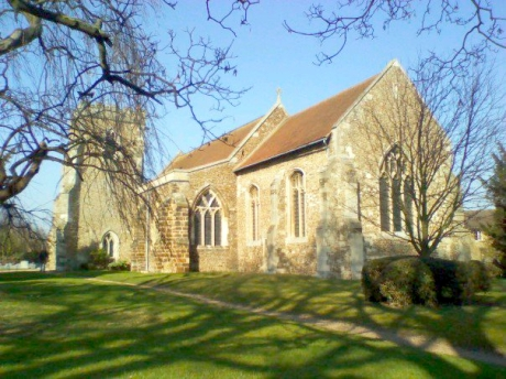 Spring Sunshine: St Andrew's, Langford - March 2010