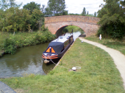 Almost waiting for a lock on the Northampton Arm (July 2015)